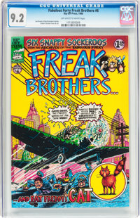 The Fabulous Furry Freak Brothers #6 (Rip Off Press, 1980) CGC NM- 9.2 Off-white to white pages