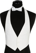 "Movie/TV Memorabilia:Costumes, A Tuxedo Vest and Bow Tie from ""Oscar.""..."
