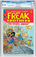 Modern Age (1980-Present):Alternative/Underground, The Fabulous Furry Freak Brothers #8 Double Cover (Rip Off Press,1984) CGC NM 9.4 White pages....
