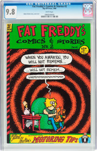 Fat Freddy's Comics & Stories #2 (Rip Off Press, 1986) CGC NM/MT 9.8 White pages