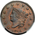 1824 1C N-2, R.2, MS64 Red and Brown PCGS
