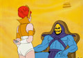 Animation Art:Production Cel, He-Man and the Masters of the Universe Teela and SkeletorProduction Cel Setup, Animation Drawing, and Production Fold...(Total: 9 Items)