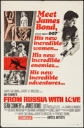 "Movie Posters:James Bond, From Russia with Love (United Artists, 1964). One Sheet (27"" X 41"")Style A. James Bond.. ..."