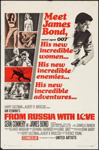 """From Russia with Love (United Artists, 1964). One Sheet (27"""" X 41"""") Style A. James Bond"""