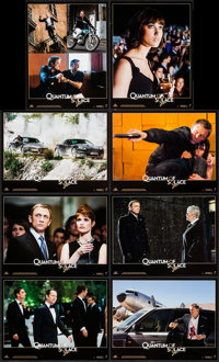"Quantum of Solace (Sony Pictures Releasing, 2008). French Lobby Card Set of 8 (8.25"" X 11""). James Bond. ... (..."