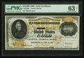 Large Size:Gold Certificates, Fr. 1225h $10,000 1900 Gold Certificate PMG Choice Uncirculated 63Net.. ...