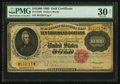 Large Size:Gold Certificates, Fr. 1225h $10,000 1900 Gold Certificate PMG Very Fine 30 Net.. ...
