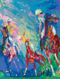 Illustration, LeRoy Neiman (American, 1921-2012). Polo at Windsor, 1976.Oil on panel. 48 x 36 inches (121.9 x 91.4 cm). Signed and da...