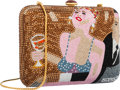 "Luxury Accessories:Accessories, Judith Leiber Full Bead Brown & Pink Cocktail Party MinaudiereEvening Bag. Excellent Condition. 6"" Width x 4"" Height..."