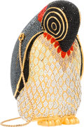 "Luxury Accessories:Bags, Judith Leiber Full Bead Black & Red Crystal Penguin MinaudiereEvening Bag. Very Good to Excellent Condition. 3.5""Wid..."
