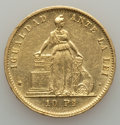 Chile, Chile: Republic gold 10 Pesos 1881-So AU - Cleaned,...