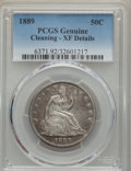 Seated Half Dollars: , 1889 50C -- Cleaning -- PCGS Genuine. XF Details. NGC Census: (1/95). PCGS Population (4/154). Mintage: 12,000. Numismedia ...
