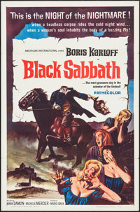 "Black Sabbath (American International, 1964). One Sheet (27"" X 41"") Flat Folded. Horror"