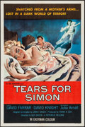 """Movie Posters:Thriller, Tears for Simon & Other Lot (Republic, 1956). One Sheets (2)(27"""" X 41""""). Thriller.. ... (Total: 2 Items)"""