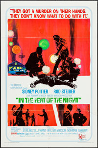 """In the Heat of the Night (United Artists, 1967). One Sheet (27"""" X 41"""") and Cut Pressbook (12 Pages, 12.5""""..."""