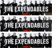 "The Expendables (Lionsgate, 2010). Placard Lot of 3 (14"" X 48"")"