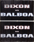 "Movie/TV Memorabilia:Props, A Set of Prop Banners from ""Rocky Balboa"" (aka ""Rocky VI"")....(Total: 2 Items)"