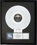 "Movie/TV Memorabilia:Awards, An RIAA Platinum Record Award for ""Rocky IV.""..."
