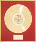"Movie/TV Memorabilia:Awards, A Gold Record Award for ""The Original Motion Picture Soundtrack Staying Alive,"" 1983-1984...."