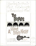 "Music Memorabilia:Original Art, The Beatles ""A Hard Day's Night"" Poster Rough Layout (UnitedArtists, 1964). A rough layout is a general sketch of a poster ..."