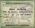 "Music Memorabilia:Tickets, The Beatles/The Zeros Concert Ticket. For the February 10, 1962""Beat Session"" featuring the Beatles and the Zeros at the S..."