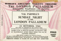 Music Memorabilia:Tickets, Beatles London Palladium Concert Ticket, 1963. A ticket for two toa televised concert by the Beatles at the London Palladi...