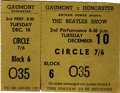 Music Memorabilia:Tickets, Beatles Gaumont Theatre Concert Ticket. An unused ticket from their December 10, 1963 second performance show at the Gaumon...