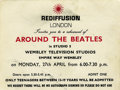 "Music Memorabilia:Tickets, ""Around the Beatles"" Concert Ticket. A ticket for the April 27,1964 dress rehearsal of the ""Around the Beatles"" television..."