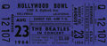 Music Memorabilia:Tickets, Beatles Hollywood Bowl Concert Ticket. From the Beatles' August 23,1964 performance. The 29-minute concert was attended by ...