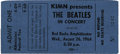 Music Memorabilia:Tickets, Beatles Denver Concert Ticket. An unused ticket for the band'sAugust 26, 1964 performance at the Red Rocks Amphitheater in...