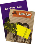 Music Memorabilia:Memorabilia, Beatles in Saharan Magazine plus Beatles Ltd. Tour Book (1964).Those lovable moptops are cover-featured in this scarce Las ...(Total: 3 )