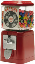 "Music Memorabilia:Memorabilia, Beatles Gumball Machine. ""The BEATLES in this machine,"" proclaimsthe ad inside the glass case of this very rare relic from ..."
