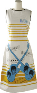 Music Memorabilia:Costumes, Beatles Dresses. This set of three dresses includes two Beatlesdresses made featuring blue horizontal stripes with stamped ...