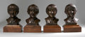 Music Memorabilia:Memorabilia, Beatles Busts by Henry Van Wolf. This set of four small prototypebronze busts -- one for each member of the band -- was cr...