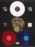 Music Memorabilia:Memorabilia, Beatles In-Store Framed Album Display Prototype (Capitol, 1977).This stunning display is as unique as it is eyecatching. Th...