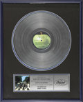 """Music Memorabilia:Awards, Beatles Abbey Road Platinum Record Award. The last Beatles album tobe recorded (although """"Let It Be"""" was the last to be rel..."""