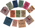 Music Memorabilia:Tickets, Beatles/Roy Orbison Ticket Group. An almost complete run of ticketsdating from May 24-June 3, 1963 (only a stub from the M...