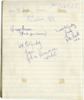 Music Memorabilia:Autographs and Signed Items, The Beatles: Signed Book Page from '62 with Pete Best! Before therewas John, Paul, George, and Ringo there was John, Paul, ...