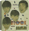 Music Memorabilia:Autographs and Signed Items, The Beatles Incredible Signed Lyric Book with HandwrittenAnnotations!...