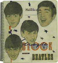 The Beatles Incredible Signed Lyric Book with Handwritten Annotations! In October of 1963, The Beatles expanded their in...