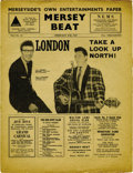 "Music Memorabilia:Memorabilia, ""Mersey Beat"" #15. A copy of the February 8-22, 1962 issue in VeryGood condition with a large piece missing from the first..."