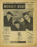 """Music Memorabilia:Memorabilia, """"Mersey Beat"""" #24. A copy of the June 14-18, 1962 issue, featuring numerous small ads for gigs by the Beatles, the Spiderme..."""