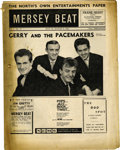 "Music Memorabilia:Memorabilia, ""Mersey Beat"" #27. A copy of the July 26-August 9, 1962 issue, featuring Gerry and the Pacemakers on the cover and a couple..."