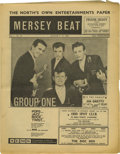 "Music Memorabilia:Memorabilia, ""Mersey Beat"" #28 A copy of the August 9-23, 1962 issue in Fine condition with mild wear to the spine and edges, a horizonta..."
