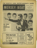 "Music Memorabilia:Memorabilia, ""Mersey Beat"" #32. A very nice copy of the October 4-18, 1962issue, featuring a front-page ad for the Beatles' first single..."