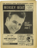 "Music Memorabilia:Memorabilia, ""Mersey Beat"" #39. A nice copy of January 17-31, 1963 issue, with asmall ad on the front page promoting the release of the..."