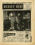 "Music Memorabilia:Memorabilia, ""Mersey Beat"" #40. A very nice copy of the January 31-February 14,1963 issue featuring a back-page piece about the Beatles..."