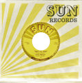 "Music Memorabilia:Recordings, Elvis Presley ""That's All Right""/ ""Blue Moon of Kentucky"" 45 Sun209 (1954). This copy of Elvis' first Sun release looks fan..."
