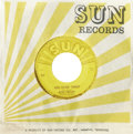 "Music Memorabilia:Recordings, Elvis Presley ""Good Rockin' Tonight""/ ""I Don't Care If The Sun Don't Shine"" 45 Sun 210 (1954). Elvis' second Sun release was..."