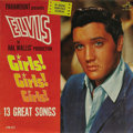 """Music Memorabilia:Recordings, Elvis Presley """"Girls! Girls! Girls!"""" Mono LP RCA 2621 (1962). Oneof Elvis' more successful soundtracks from the period, thi..."""
